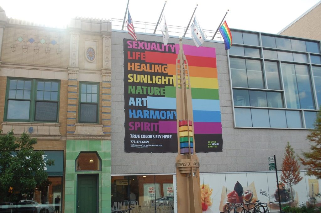 Boystown in Chicago, Illinois is a longtime popular gay neighborhood